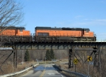 Southbound B&LE #908, 901 & 906 on the B&LE Trestle in Osgood, Pa. II