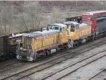 A pair of old Union Pacific SW1500's
