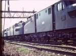 3 GG1s lead freight into Potomace Yards