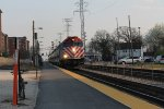 Metra 111 leads an outpound scoot