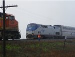 AMTK P42DC 73 & BNSF C44-9W 5481