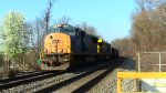 CSX SD70MAC Leads U883 Through Laurel Racetrack