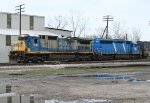 SB freight switching in the yard