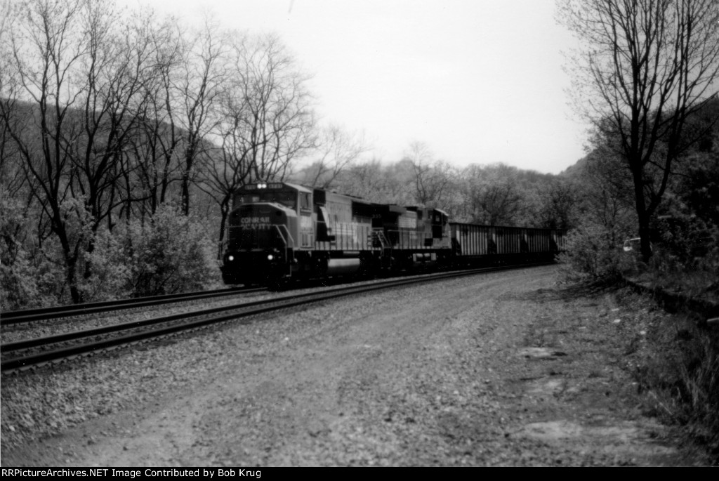 NS 6731 leads coal empties westbound up the Middle Division