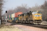 Eastbound UP Freight with 5 EMD's