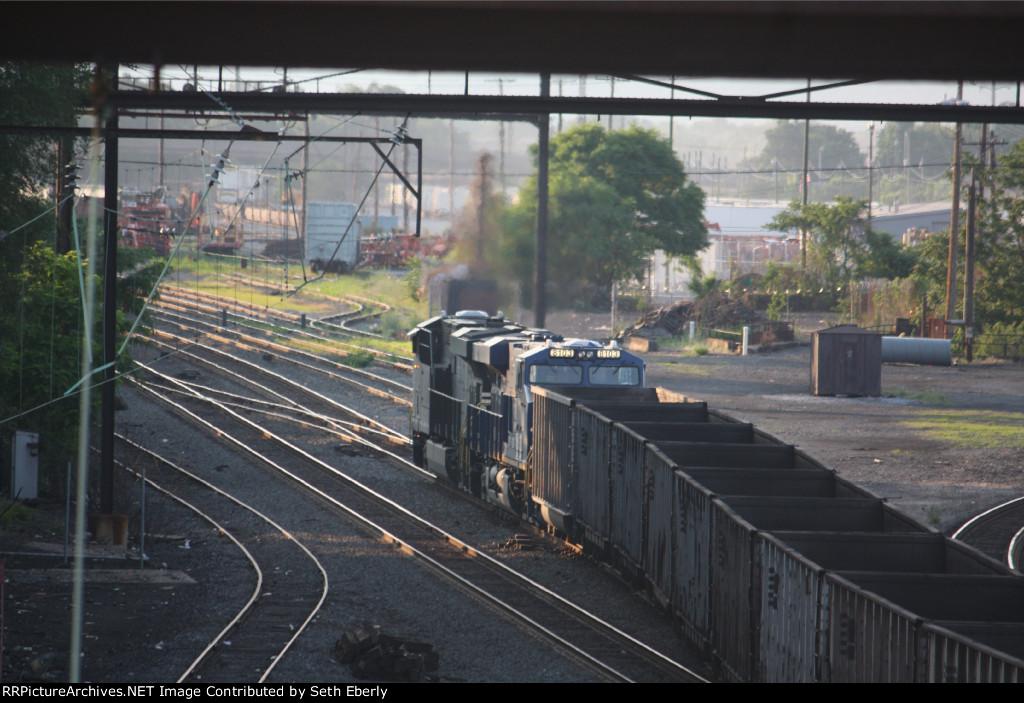 NS 8103 Norfolk & Western heritage unit on NS 593 empty coal train