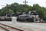 NS 591 with the Savanna & Atlanta and the New York Central Heritage units leading NS 591