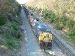 Coal train waits for a signal