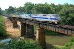 Amtrak P020 crossing the Cahaba