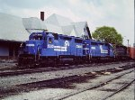 "Conrail Freight passes former ""Big Four"" Union Station - Muncie - 1980"