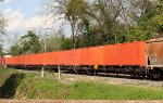 IFRX containers on flat cars