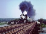 Southern 2-8-0 #722 blast over Neabsco Creek Bridge on ferry move over RF&P