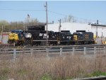 CSX 358 and 2556; NS 3026 and 2103