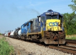 CSX 5826 leads Westbound CSX local C718 MP 126.4