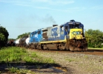 CSX 5826 leads Westbound CSX local C718 MP 127.4