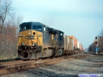 CSX #588 Leads a CSX intermodal train