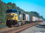 CSX #77 leads a westbound Empty grain train