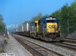CSX #8615 Leads a Westbound CSX TV Train