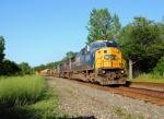 CSX 8740 leads Westbound CSX Q151 at MP122 on track number two.