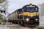 Westbound DME Grain with 2 Blue/Yellow SD40's