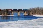 WABK 511 Crosses The Kennebec River