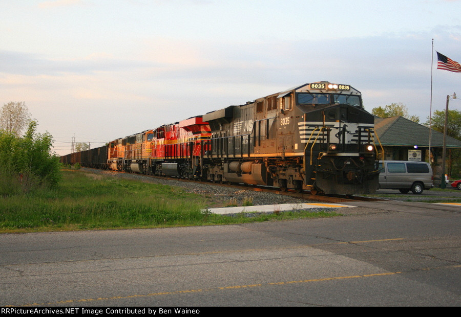 NS 8035 With Norfolk Southern Heritage Unit