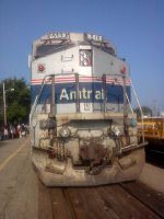 Cell photo of Amtrak 519