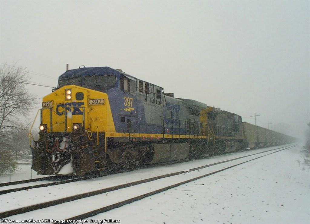 CSX N914 In the snow
