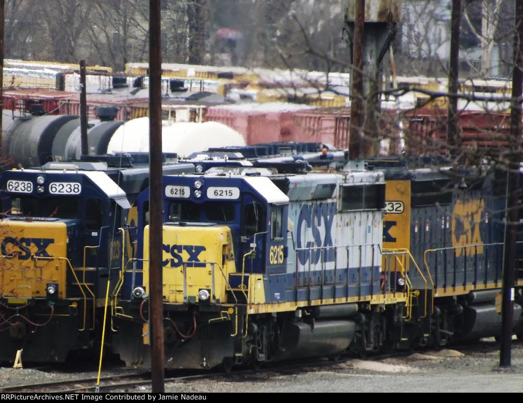 Engines Idle CSX yard Framingham, MA