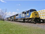 CSX 4539 heads east with autoparts.