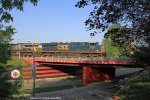 CSX intermodal train Q133 crosses the U of L bridge
