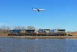 A Train and an Airplane