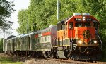 5-car BNSF inspection train