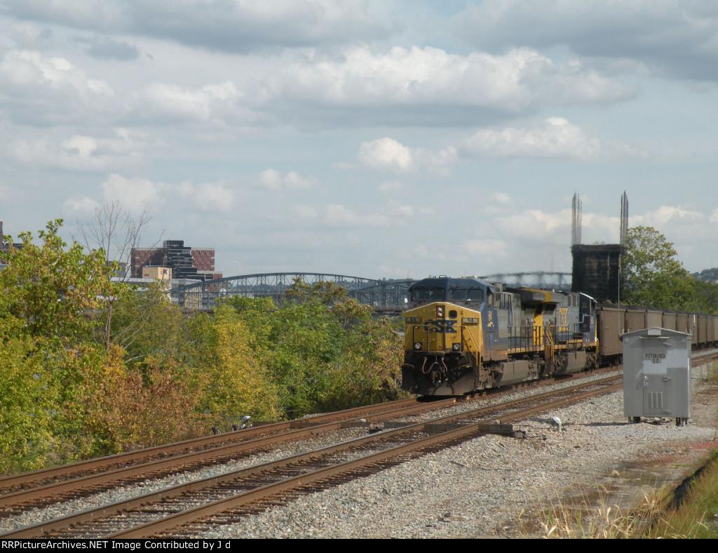 Loaded coal drag