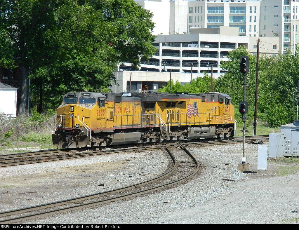 UP 9655 (C44-9W)  7415 (AC45CCTE)