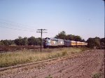 Seaboard System F units SBD 116 SBD 118 on excursion - Baltimore - Martinsburg - 1983