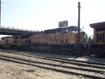 UP 7041 idles in Bakersfield