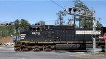 NS #9573 crossing Miller Blvd.