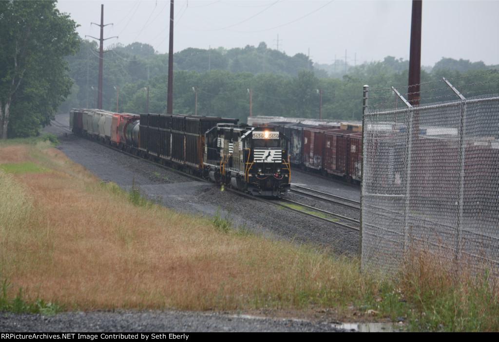 NS H30 entering Dillerville Yard
