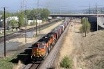 Eastbound BNSF Grain with 3 Dash-9s