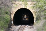 The Reflectives Shine as CP 8737 Exits the Tunnel