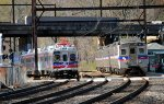 SEPTA 61 shoves Silverliner Vs out of Woodbourne Yard