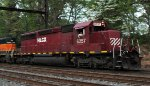 HLCX SD40-2 6257 in Red and White leads Q301-21