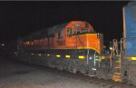 HLCX SD40-2 7860 in BNSF H1 on Q410-04 at Nesh