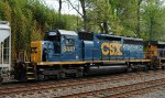 CSX SD40-2 8447 trails on Q439-21
