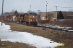 UP 7643 At Hinckey Rd with a CSX eastbound merchandise train