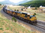 UP 6716 OLS Pushers on the Moffat Tunnel Subdivision