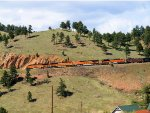 BNSF 6264 Short Manifest Coming Off the Mountain