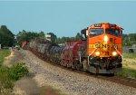 BNSF 4470 Leads a Unit coil train