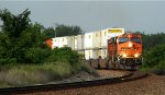 BNSF 7530 Leads a stack eastbond